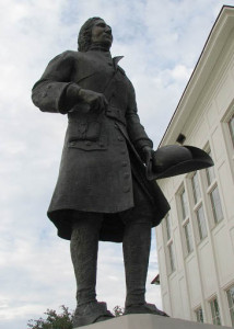 Statue of d'Iberville in Biloxi, Mississippi