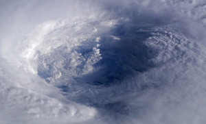 Satellite shot from NASA of eye of Hurricane Isabel