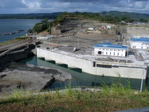 Construction site for new locks near Gatun Locks.