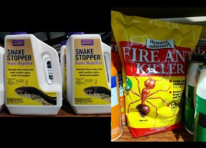 Snake repellent and fire ant killer