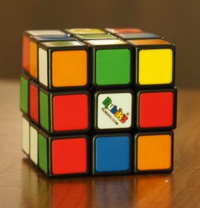 Rubik's Cube after scrambling.