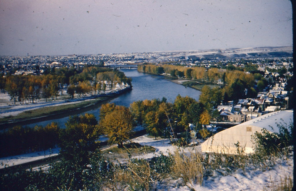View of Bow River in Calgary from south.