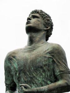 Head and torso shot of Terry Fox Memorial.