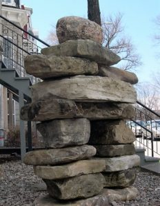 Inukshuk/inunnguaq in Quebec City