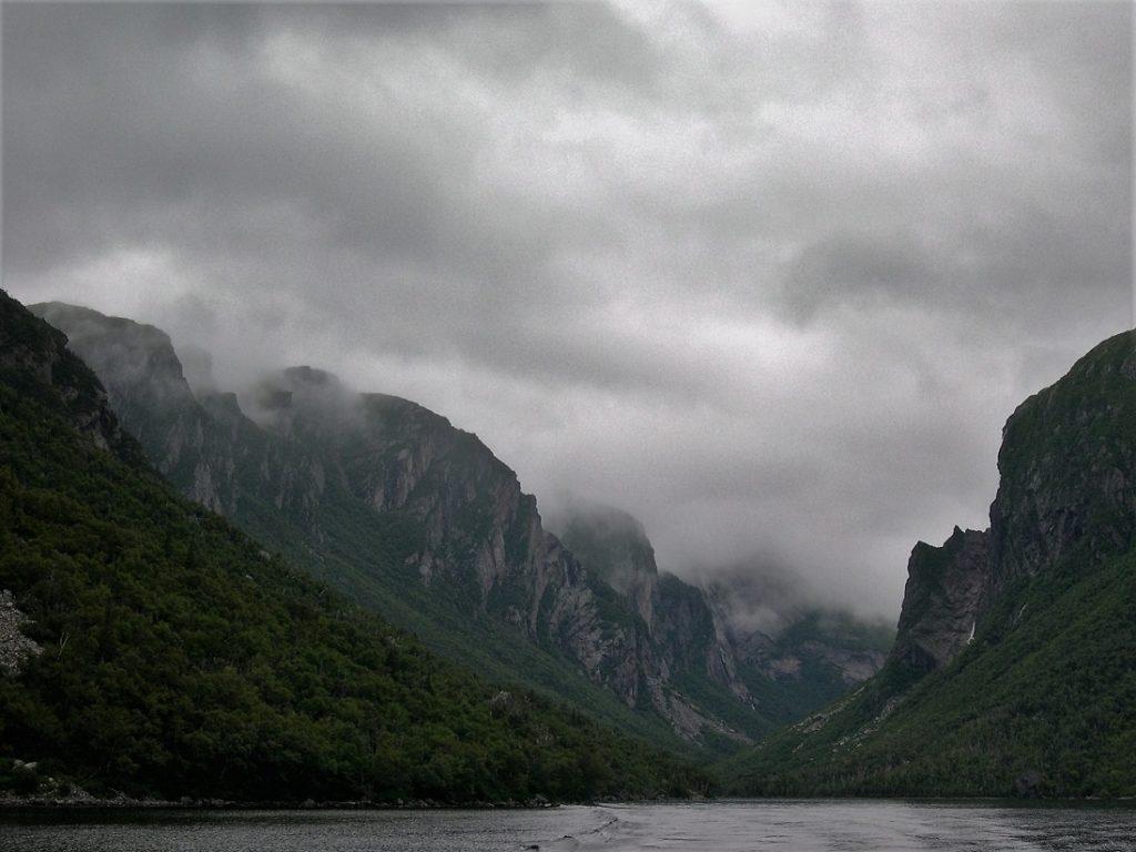 Fjord-like scene in western Newfoundland.