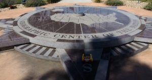 Monument for geographic center of the USA