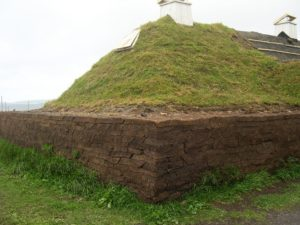 Replica of peat hut.