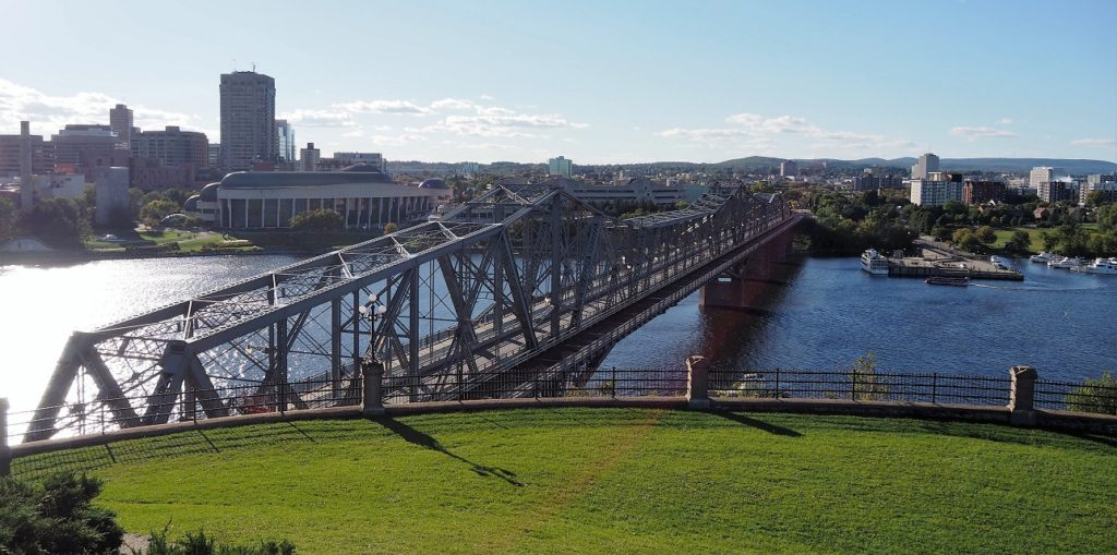 View of Alexandra Bridge from Nepean Point.