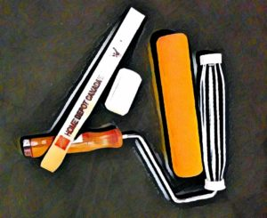 Photo/graphic of paint roller paraphernalia