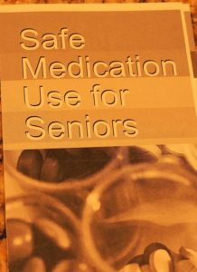 Cover of pamphlet on safe medication use