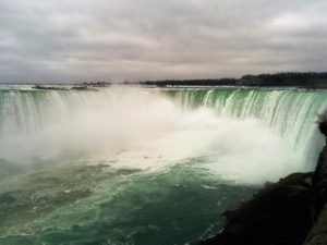 Full-frame photo of Horseshoe Falls in Niagara Falls.