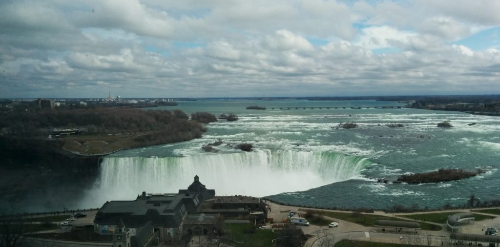 View of Horseshoe Falls from 14th floor of hotel