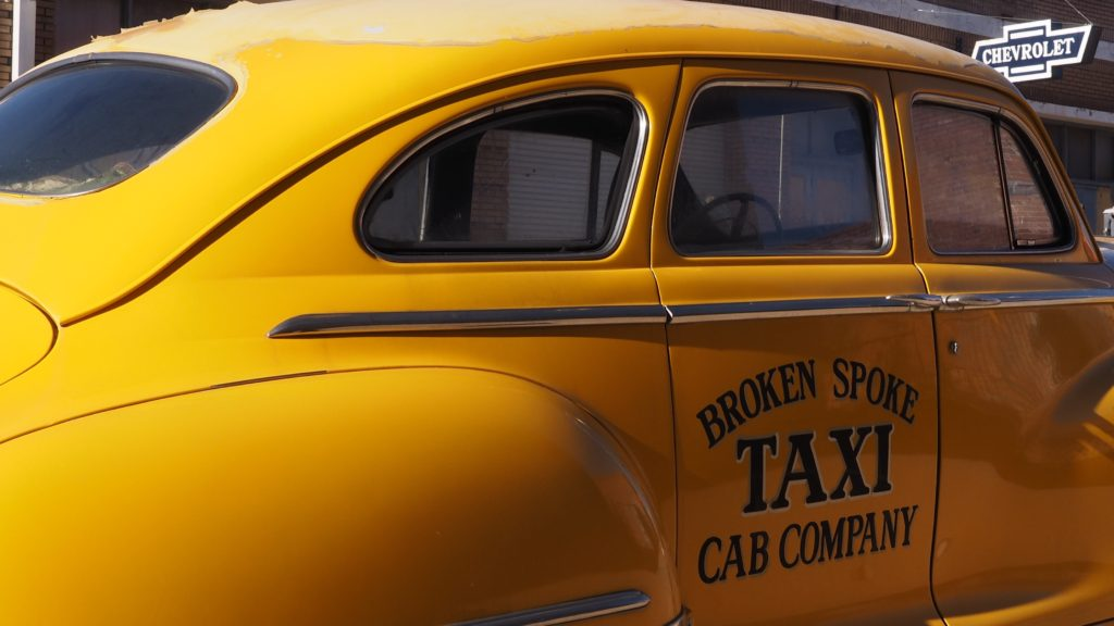 Vintage big yellow taxi