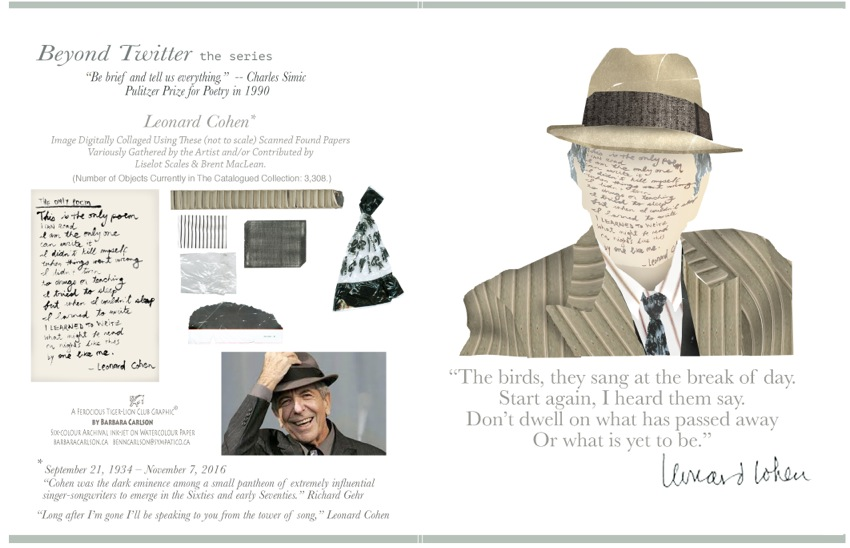 Greeting card with Leonard Cohen image.