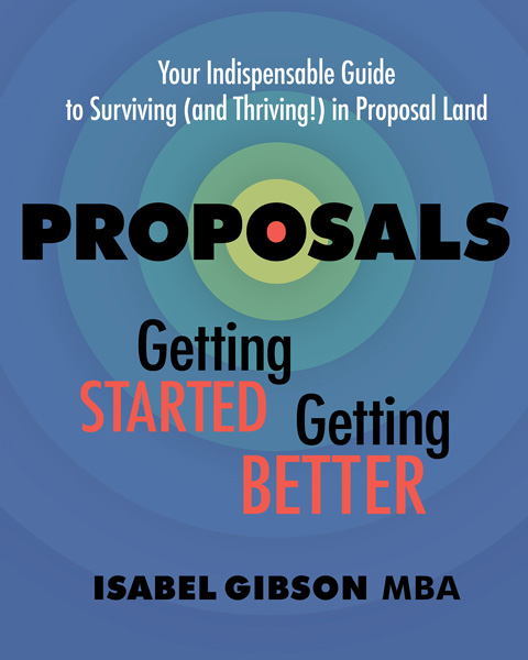 Book cover of Isabel Gibson's manual on proposal development