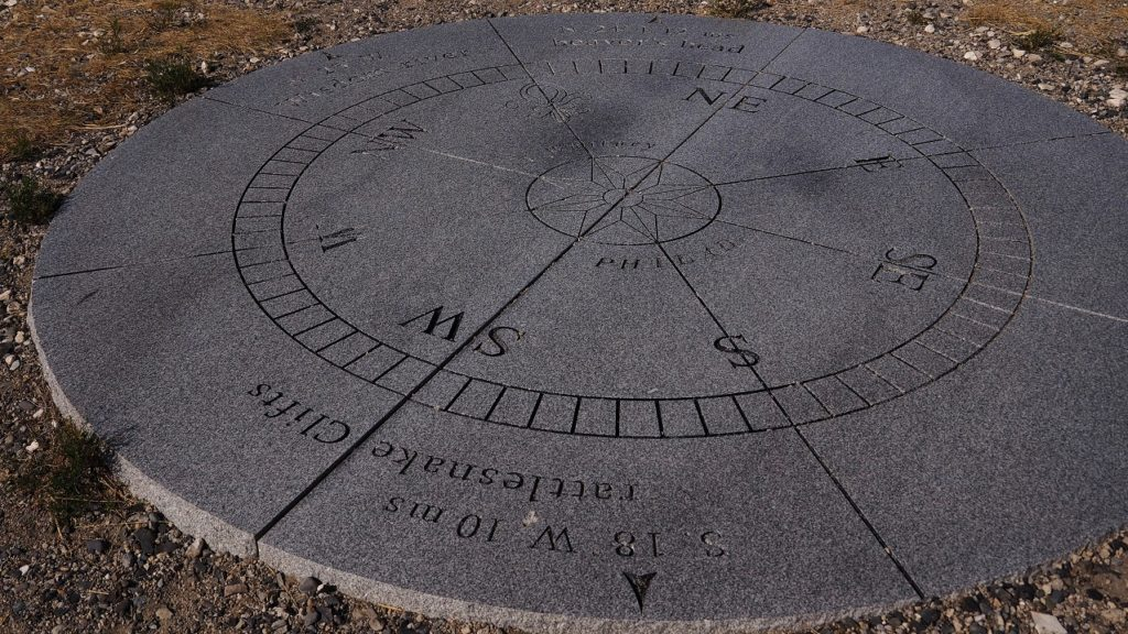 Compass memorial to Lewis and Clark.