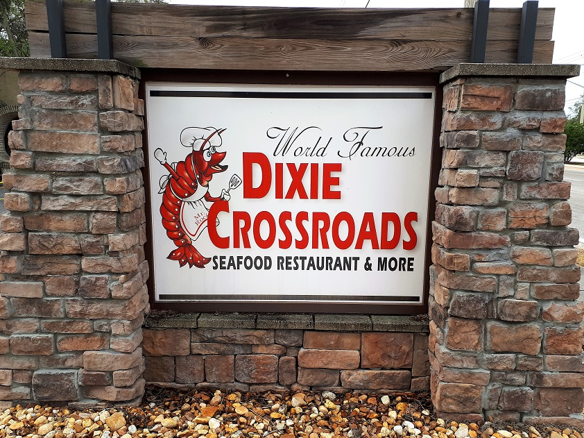 Sign for seafood restaurant in Titusville