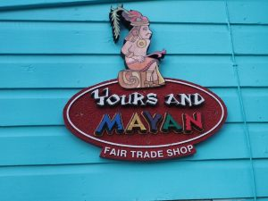 """Yours and Mayan"" store sign in Key West."