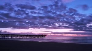 Second Avenue Pier in Myrtle Beach at sunrise