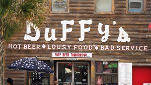 Myrtle Beach sign on bar
