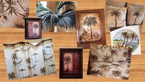 Examples of palmetto design used in home decor items