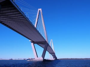 View of Srrhur J. Ravenel Bridge from Waterfront Park