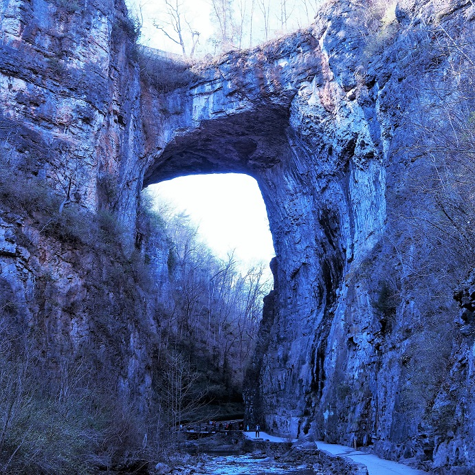 Late afternoon shot of Jefferson's Natural Bridge