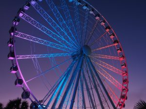 Multi-coloured Skywheel in Myrtle Beach, still.