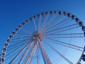Full-frame shot of Myrtle Beach Skywheel in late afternoon light.