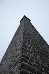 Narrow brick tower from pre-1820