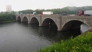 Brick bridge with 5 arches