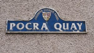 Sign for Pocra Quay