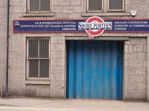 Sign for ship porter company established in 1498