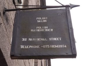 Sign in Polish for Aberdeen hair salon