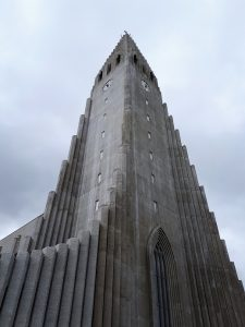 Corner view of Iceland's landmark church