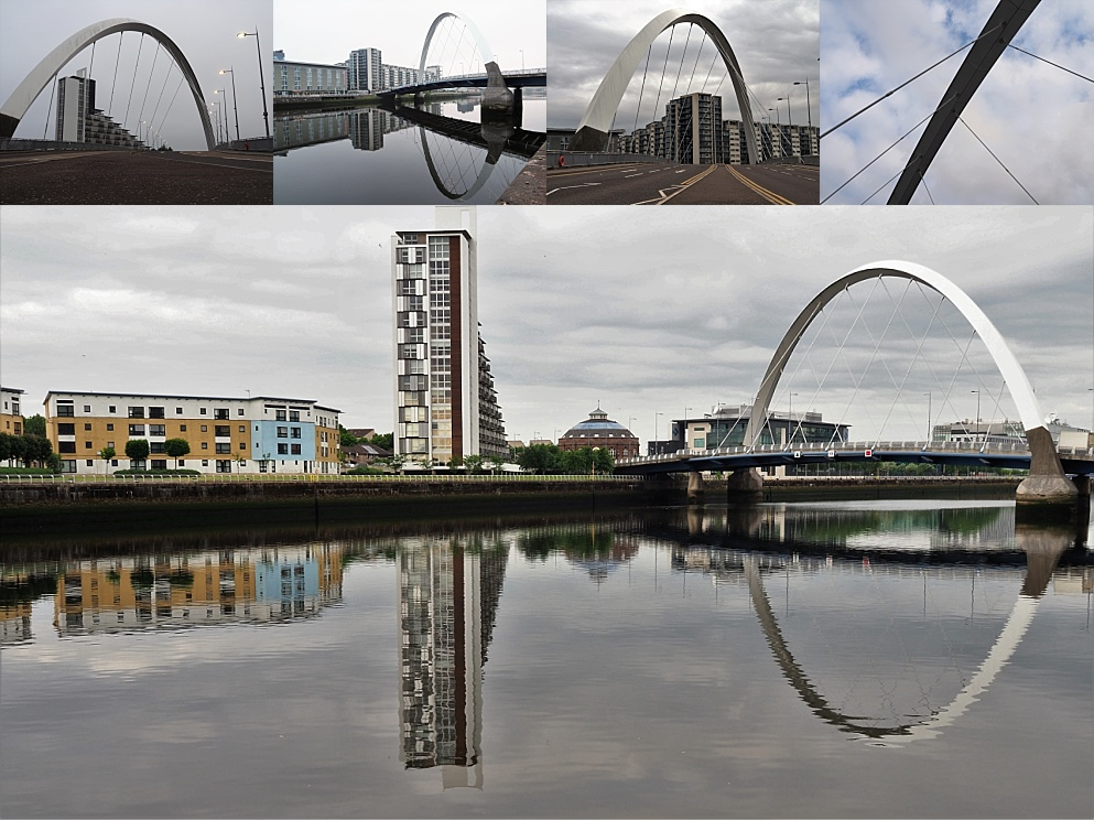 Collage of views of Squinty Bridge