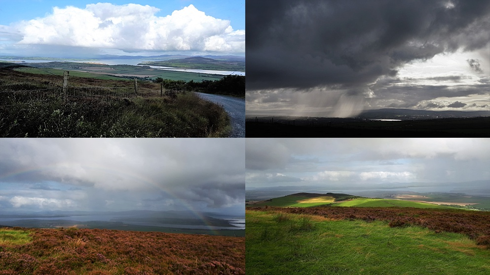 4-photo collage of changing weather at An Grianan