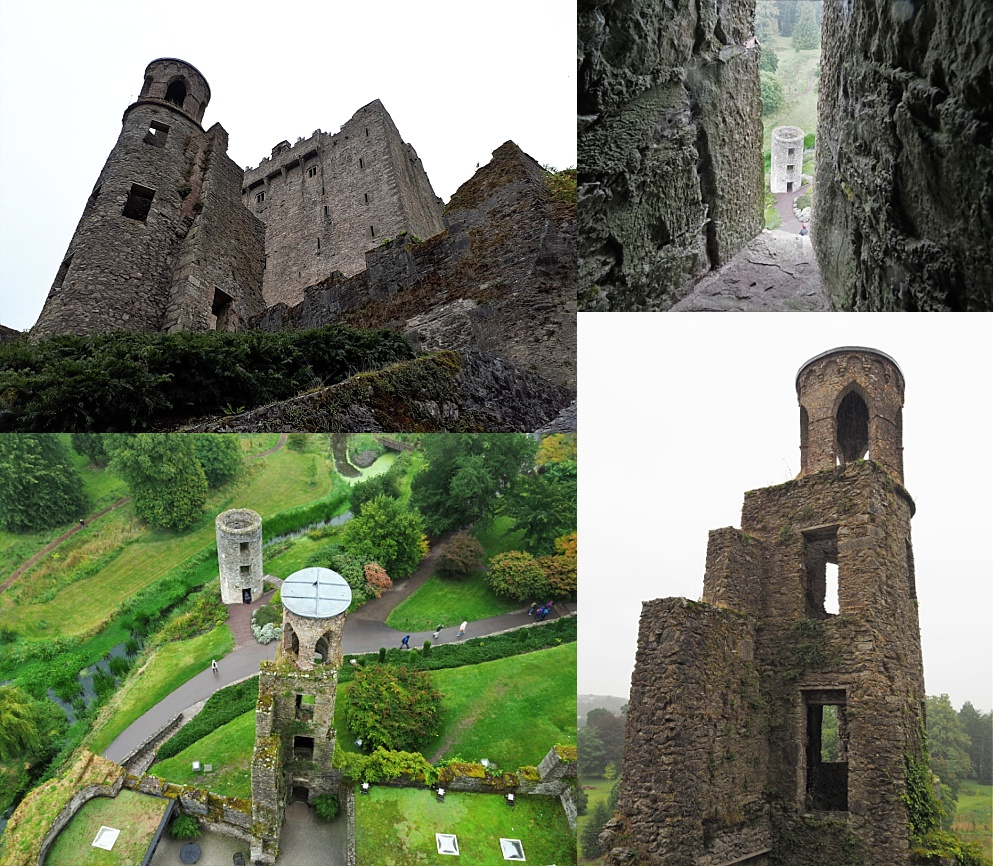 4-photo collage of Blarney Castle