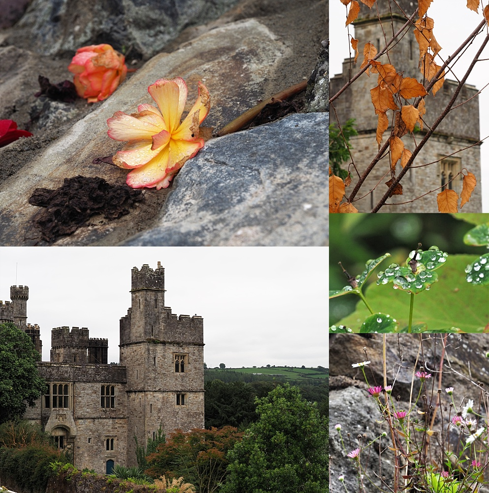 5-photo collage of Lismore Castle and gardens