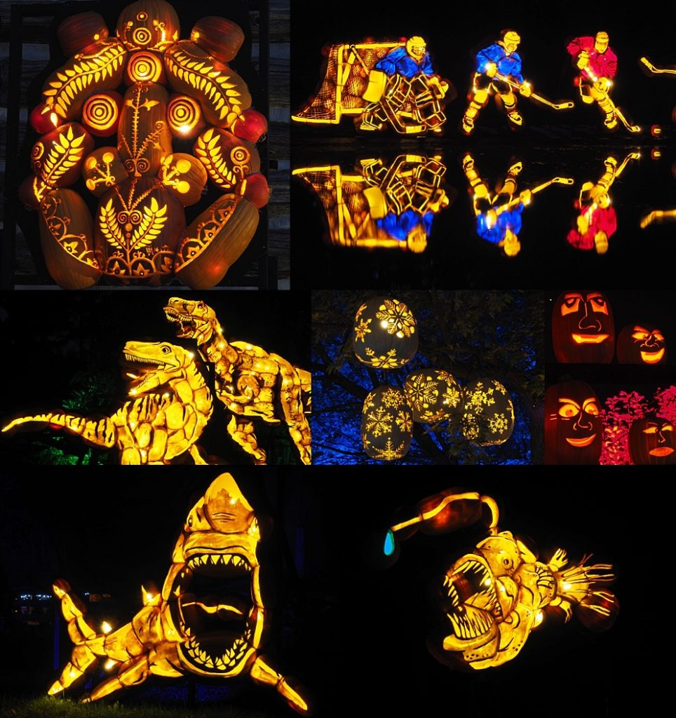 7-photo collage of shots from Pumpkinferno