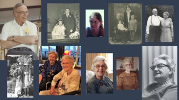 Collage of family members who have died.