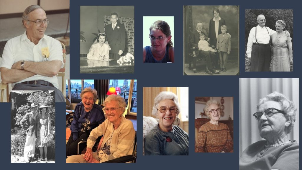 Collage of family members who have died