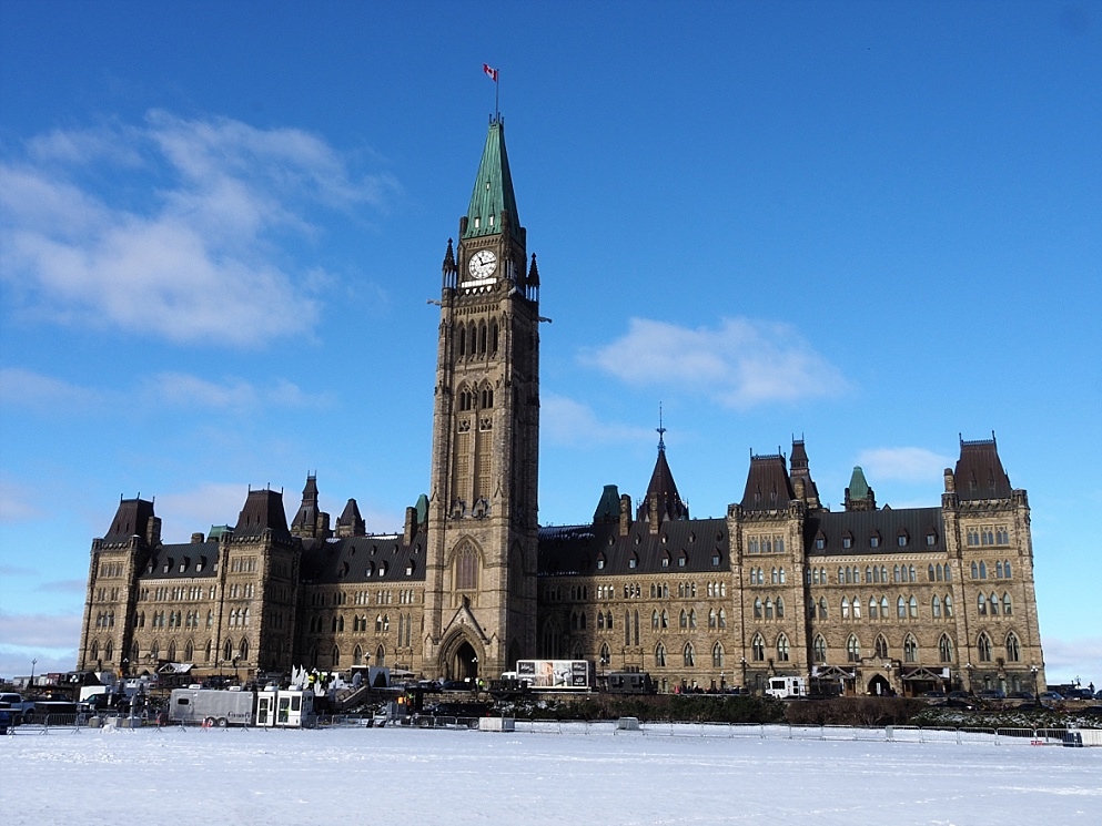 A plain shot of Centre Block before the renovations begin in 2019