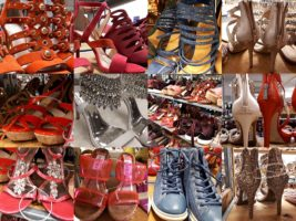 12-photo collage of discount shoes