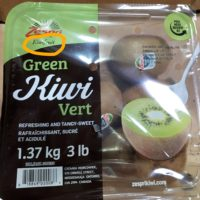 Tub of kiwifruit in produce section