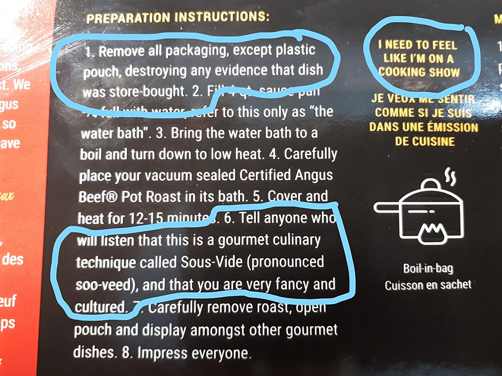 Heating instructions