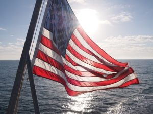 American flag showing unofficial aspect ratio