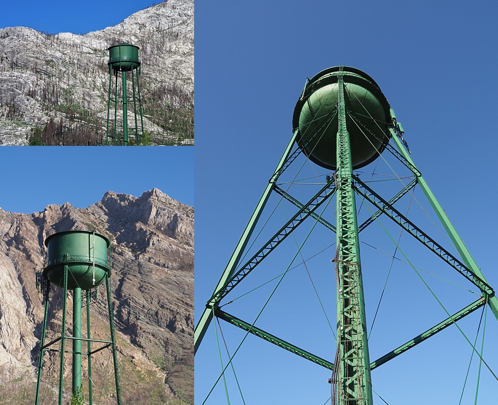 Different ways of framing a water tower