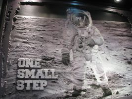 """""""One small step"""" displat at Kennedy Space Center"""