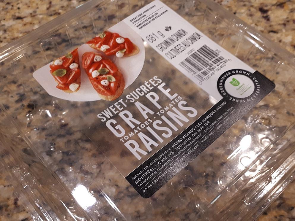 Odd label on grape tomato container
